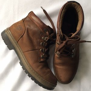 Timberland• Brown Leather lace tie boots, Sz 8 1/2